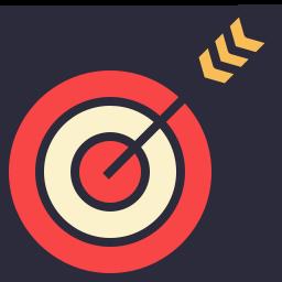 Bullseye clipart icon. Red bulls eye group