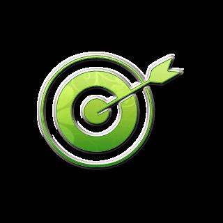 Green cliparts zone bulls. Bullseye clipart icon