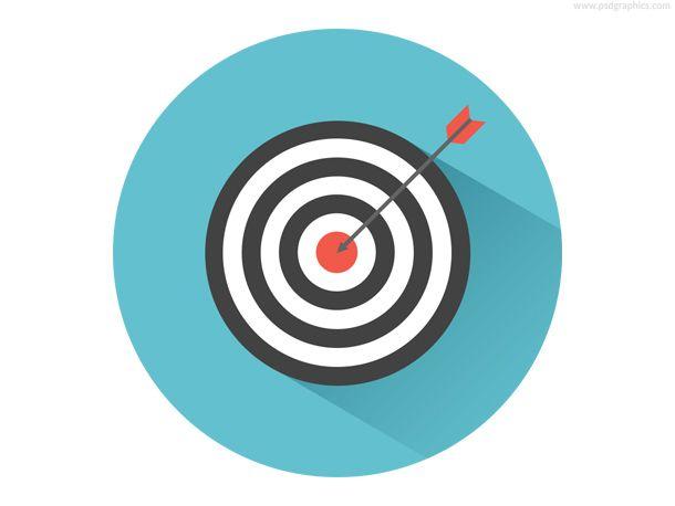 Target arrow psd pinterest. Bullseye clipart icon