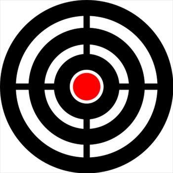 Bullseye clipart logo. Target clip art panda