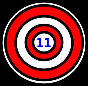Bullseye clipart number. Clip art at clker