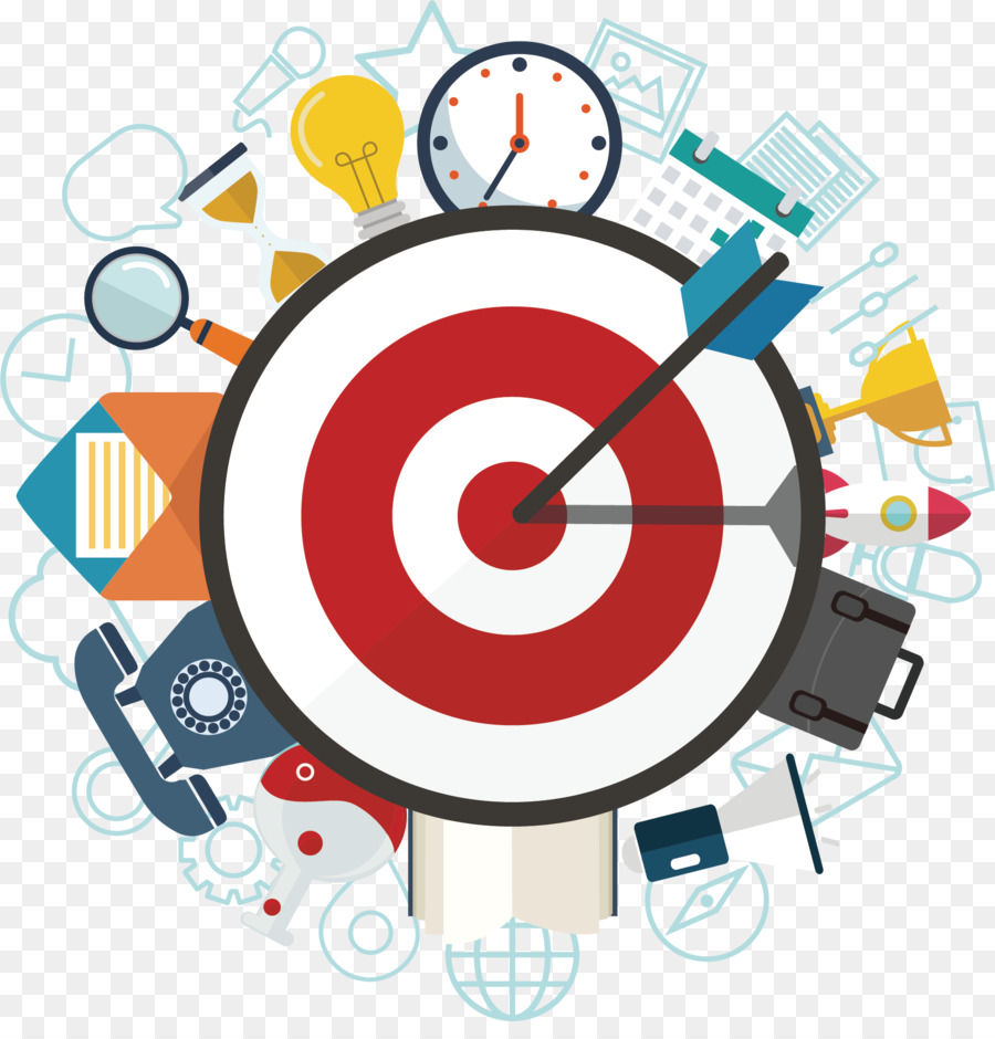 Bullseye clipart objective. Team business advertising project