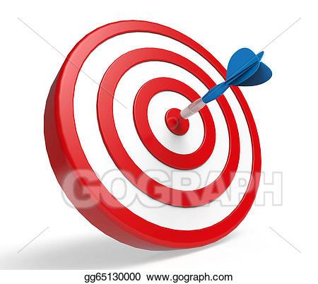 Stock illustration blue dart. Bullseye clipart perfection