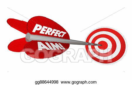 Bullseye clipart perfection. Stock illustration perfect aim