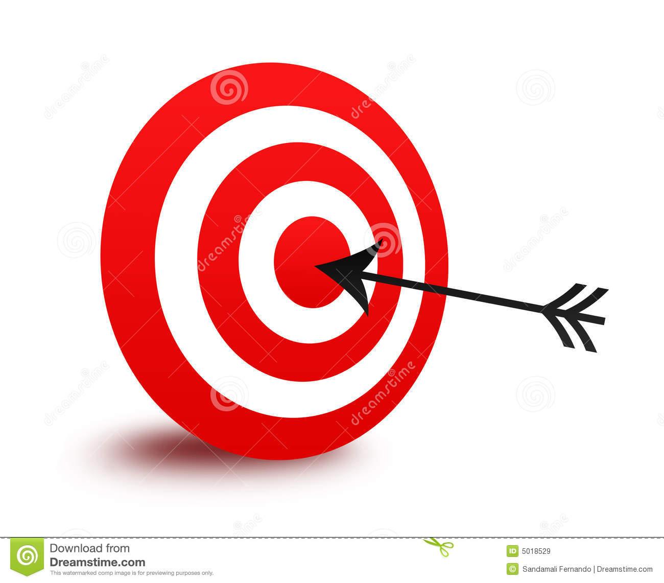 With arrow . Bullseye clipart perfection