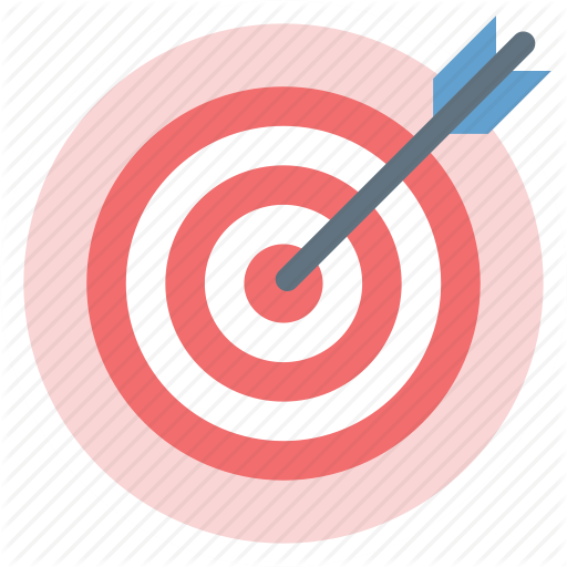 Text background illustration . Bullseye clipart pink