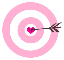 What s your brand. Bullseye clipart pink