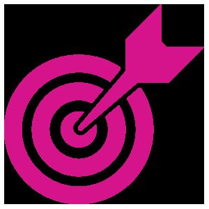 Bullseye clipart pink. The speaking solution bullseyeicon