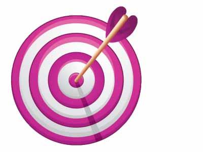 List management data strategy. Bullseye clipart pink