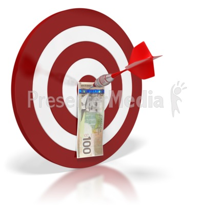 Canadian money business and. Bullseye clipart presentation