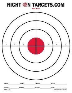 red shooting targets. Bullseye clipart printable