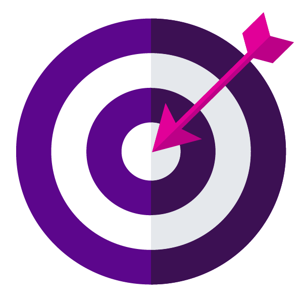 Bullseye clipart purple. Moving is easy kinecta