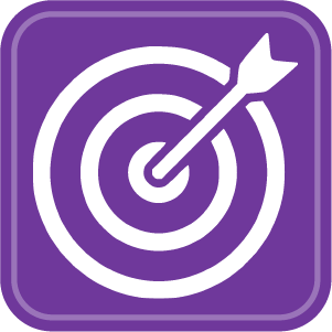 Mission statment dmd consulting. Bullseye clipart purple