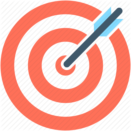 Iconfinder flat education icons. Bullseye clipart research objective