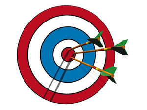 Bullseye clipart research objective. Reed college of media
