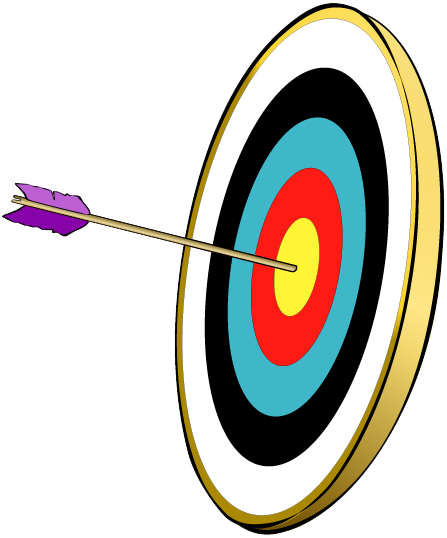 Instructional goals and objectives. Bullseye clipart research objective