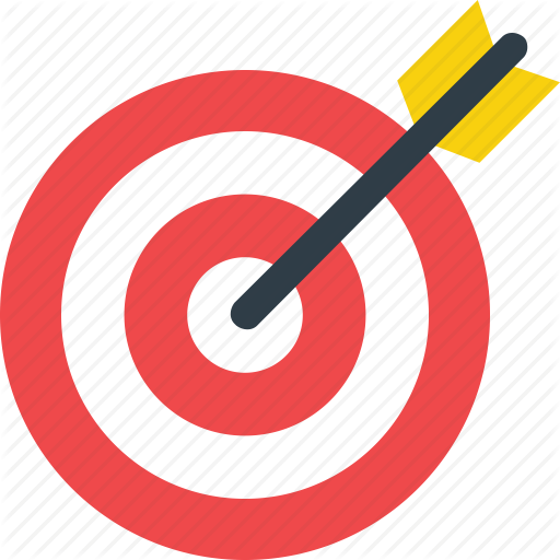Iconfinder education vol by. Bullseye clipart research objective