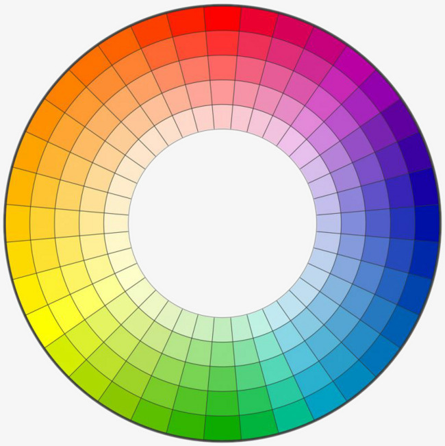 Bullseye clipart ring. Hue chart color colour