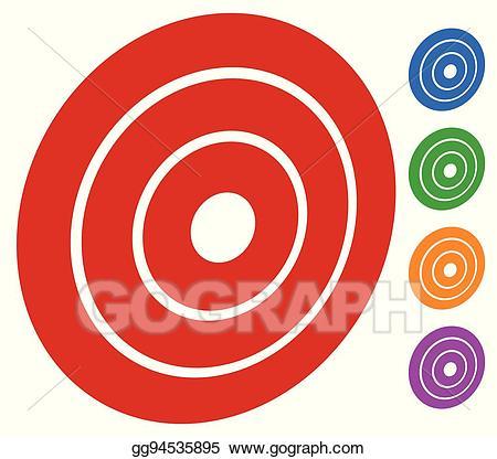 Bullseye clipart ring. Vector art target mark