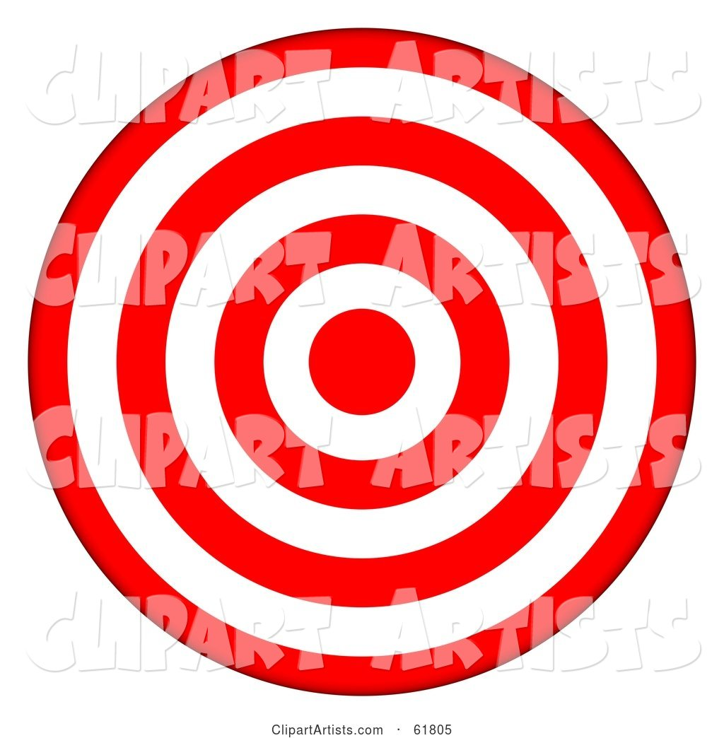 d red and. Bullseye clipart ring