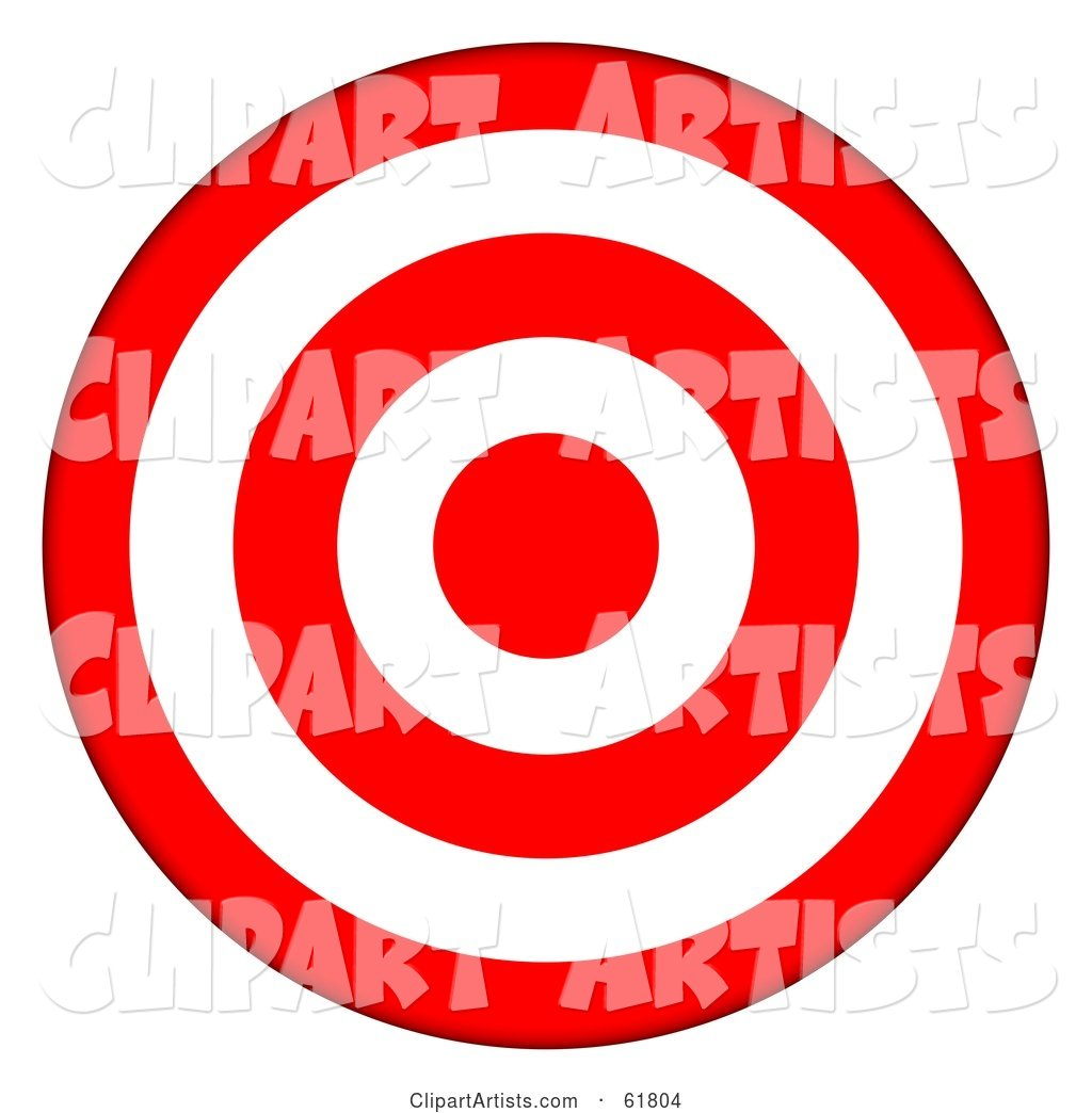 Bullseye clipart ring.  d red and