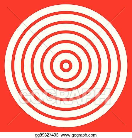 Vector art simple easy. Bullseye clipart ring