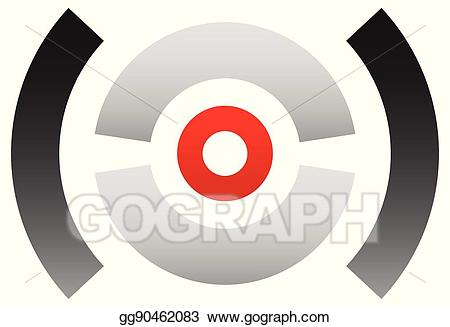 Bullseye clipart sign target. Vector illustration crosshair icon