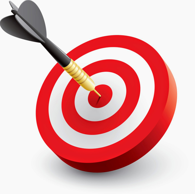 Bullseye clipart sign target. Hitting or missing the