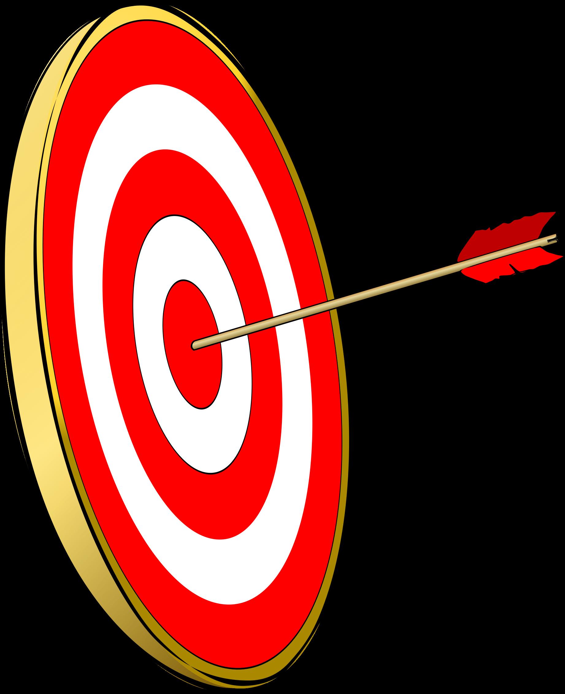 By amcolley an arrow. Bullseye clipart simple