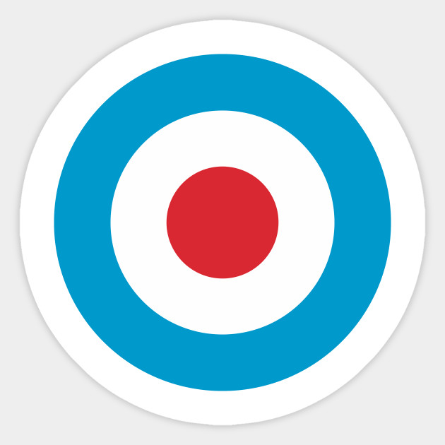 Bullseye clipart simple. Target sticker teepublic