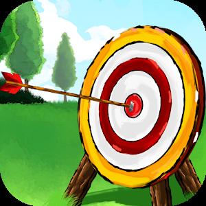 Archery hit mobile app. Bullseye clipart simple