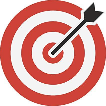 Amazon com arrow archery. Bullseye clipart simple