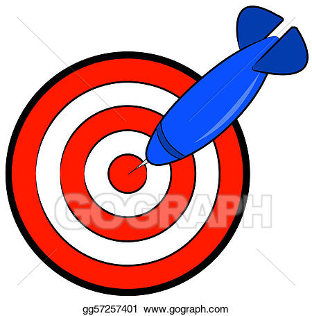 Bullseye clipart simple. Stock illustration with blue