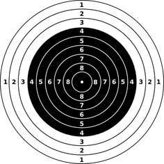 Printable x targets for. Bullseye clipart target gun