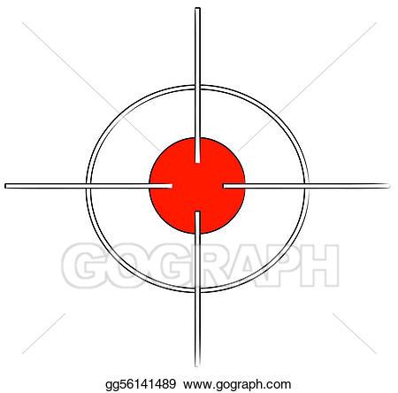 Bullseye clipart target gun. Clip art or cross