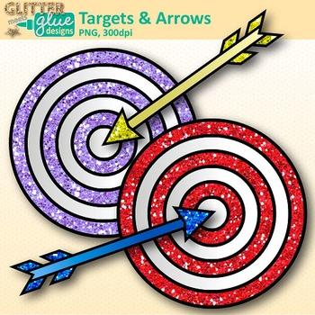 Arrow clip art rainbow. Bullseye clipart target learning