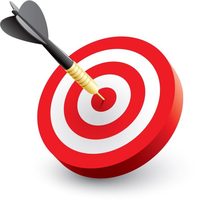 Bullseye clipart target learning. Sport management objectives college