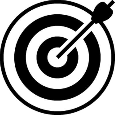 Bullseye clipart transparent background. Black and white target