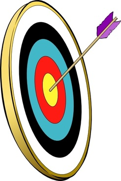 bullseye clipart vector