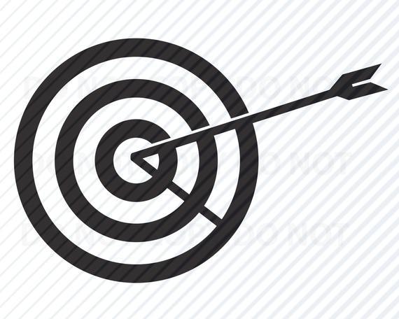 Svg images silhouette clip. Bullseye clipart vector