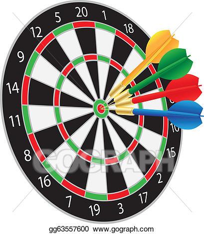 Bullseye clipart vector. Clip art dartboard with
