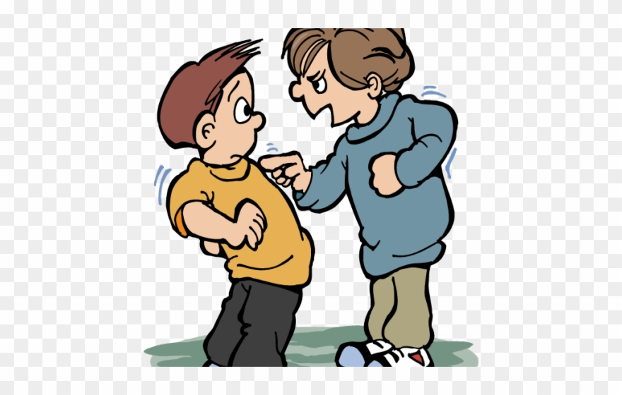 Bully bullying png transparent. Fight clipart physical contact