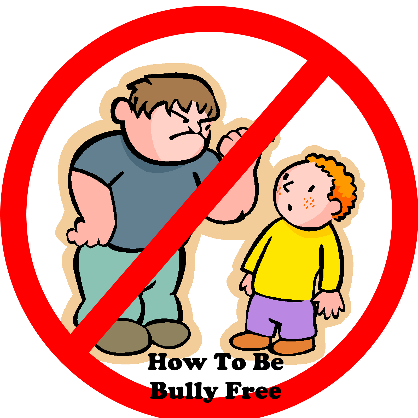No Bullying Face Clipart