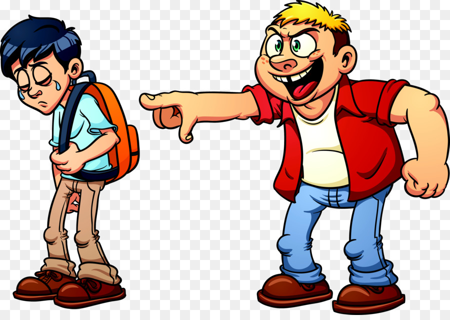 Bully clipart animated. School bullying cartoon clip