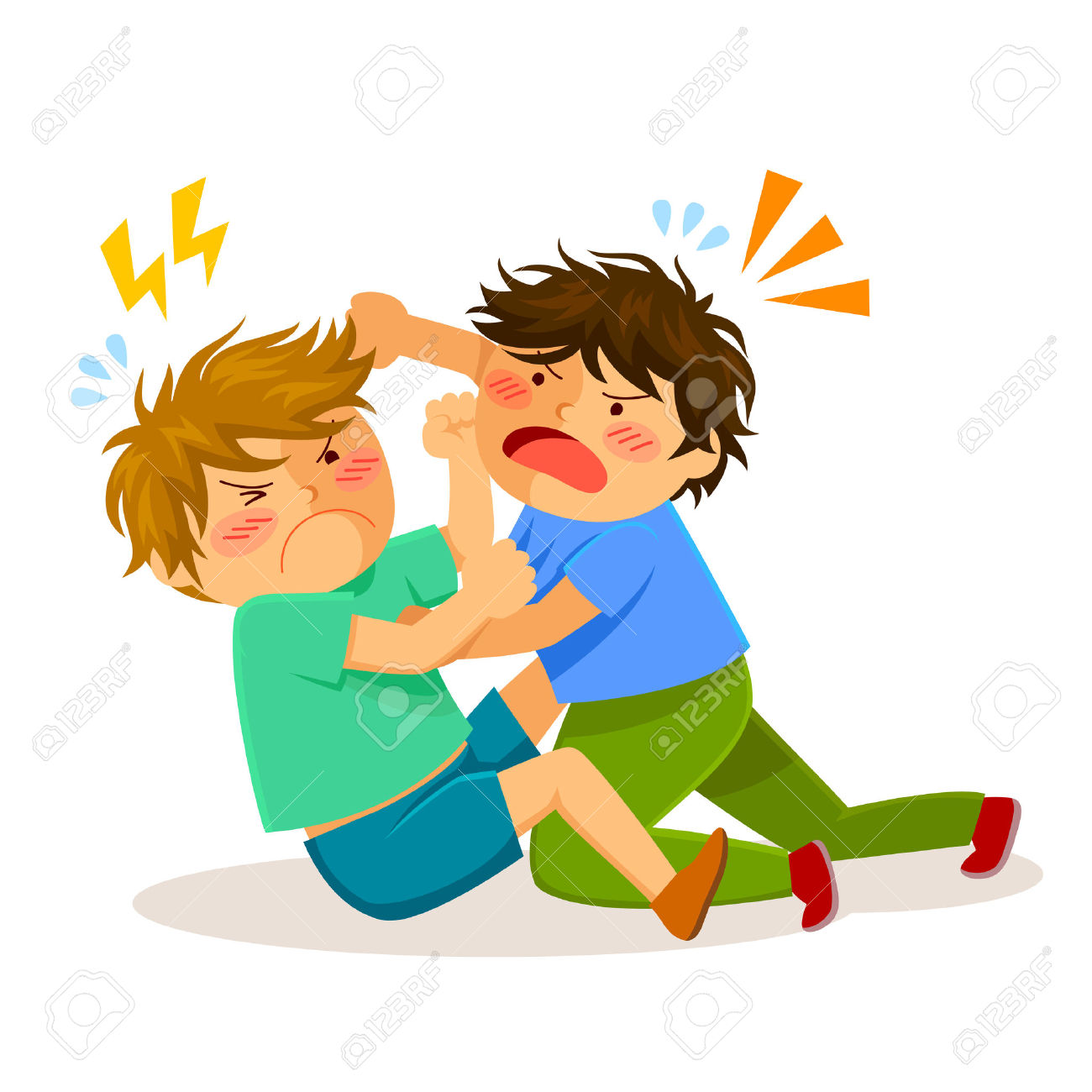 collection of children. Fighting clipart hits