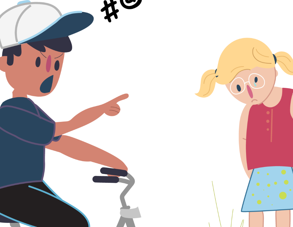 Bullying is not ok. Bully clipart bad kid