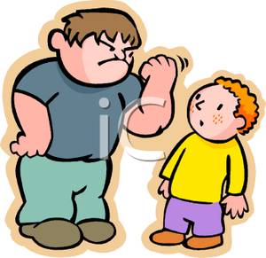A colorful cartoon of. Bully clipart big bully