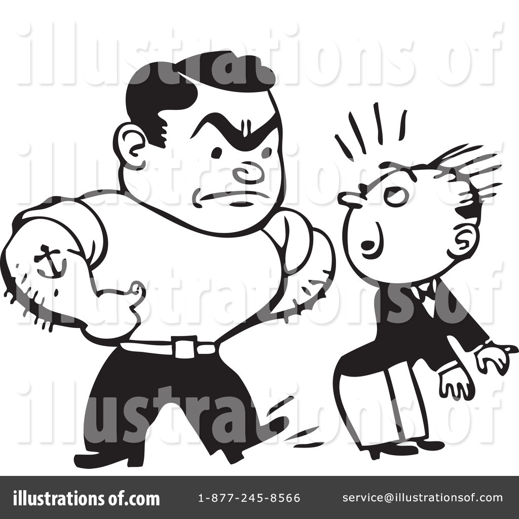 Adult . Bully clipart black and white