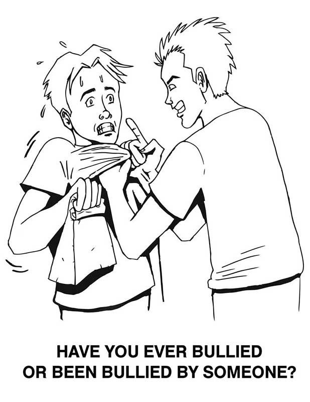Bully clipart black and white. Bullying station