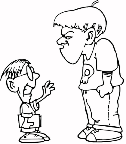 Bullying station . Bully clipart black and white